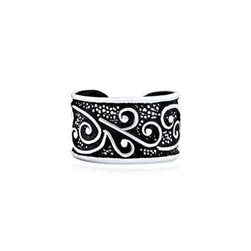 Bali Stil Wirbel Rebe Ohr Manschette Ohrring Helix 1 Stück Nicht Durchbohrt Knorpel Schwarz Oxidiert 925 Sterling Silber