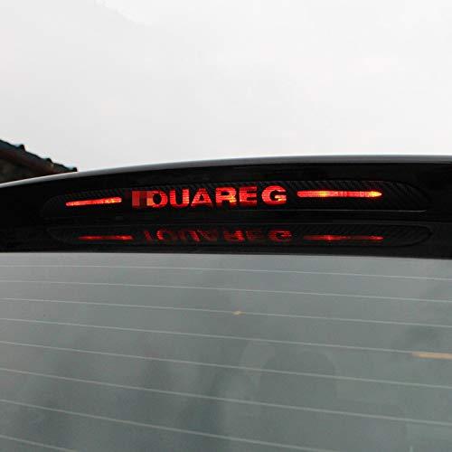 Lfldmj Für VW Touareg 2011-2017, Carbon Fiber Aufkleber und Abziehbilder Hochmontierte Bremsleuchte Licht Auto Styling