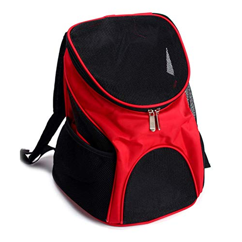 Pet Backpack Outing Carrying Case, Dog Bag, Cat Bag (Red)