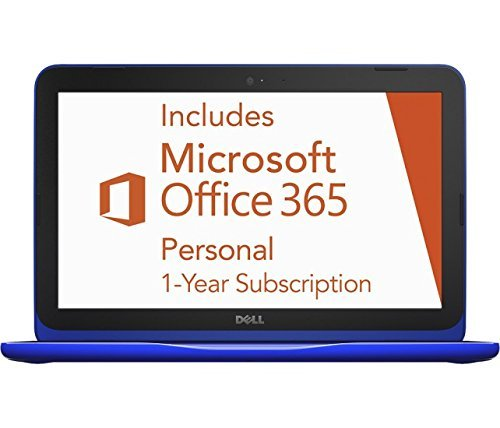 2016 Dell Inspiron 11.6 inch High Performance Laptop, Intel Celeron Dual-Core Processor, 2GB RAM, 32GB eMMC SSD, Webcam, WIFI, HDMI, Windows 10, 1 Year Microsoft Office 365 (Renewed)