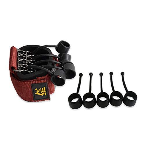 Shichangda Ejercitador de Agarre Manual Fortalecedor, Extensor de Dedos Ejercitador Terapia de Manos Entrenador de Estiramiento de Dedos, Prevención y rehabilitación de Estiramiento de Dedos