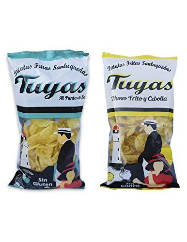 Patatas fritas al punto de sal - Patatas fritas sabor huevo frito y cebollas - Patatas Tuyas