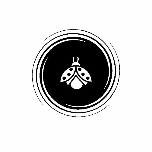 SHMAZ 15Cm * 15Cm Artistic Ladybug Inusualmente Calcomanía Nifty Etiqueta Engomada del Coche Negro/Plata