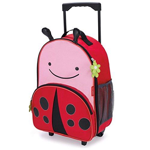 Skip Hop Zoo Luggage - Maleta con ruedas para niños, con etiqueta de nombre, Multicolor (Ladybug Livie)