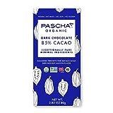 Pascha Organic Dark Chocolate Bars, 85% Cacao, UTZ, Gluten Free & Non GMO, 2.82 oz Pack of 10