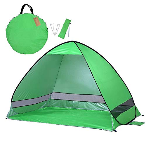 GOOHEAL Portable Beach Tent,Outdoor Automatic Tent Instant Pop Up Camping Tent Travel Anti Uv Shelter Fishing Hiking Picnic