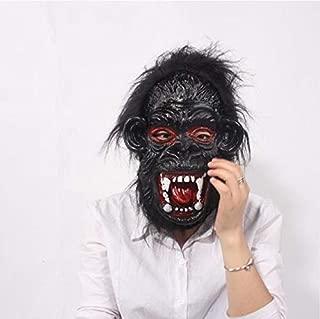 Halloween Animal Mask Monkey Orangutan Gorilla Head Mask BPA Free Rubber Masquerade Costume Mask Dress up for Adult Men Womens Creepy Halloween Decorations