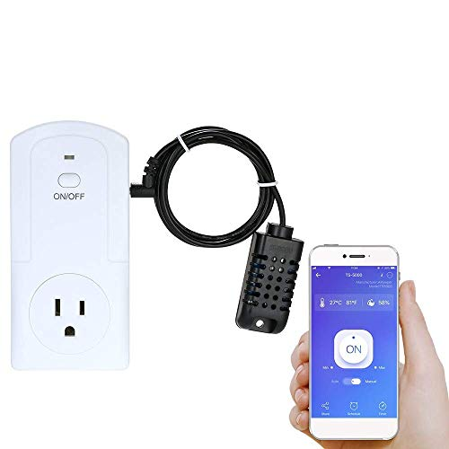 Decdeal WiFi Smart Plug Socket, Mini Plug Socket Wireless APP Remote Control Power Socket Support Energy Monitor Timing Switch Compatible with Amazon Alexa Google Home IFTTT (1 Pack)