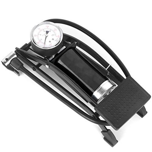 Bomba de pie portátil para bicicleta con manómetro de precisión y válvula inteligente para bicicletas, motocicletas y coches