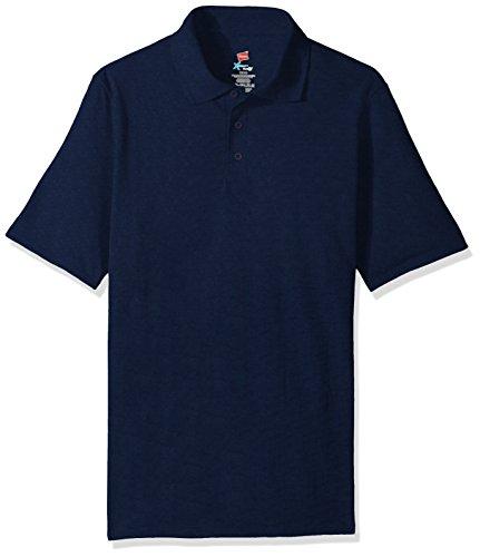 Hanes Herren Poloshirt, kurzärmelig, X-Temp mit FreshIQ - Blau - XX-Large