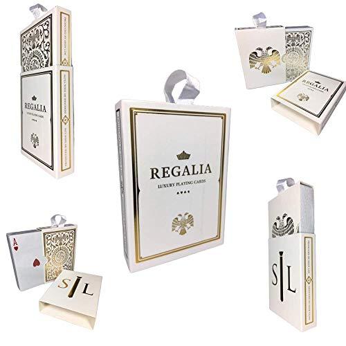 LuxTri Regalia Playing Cards White   Spielkarten by Shin LIM   Luxuriöses Pokerkartenspiel in Gold und Weiss in limitierter Auflage   Limited Edition Poker Deck Edition