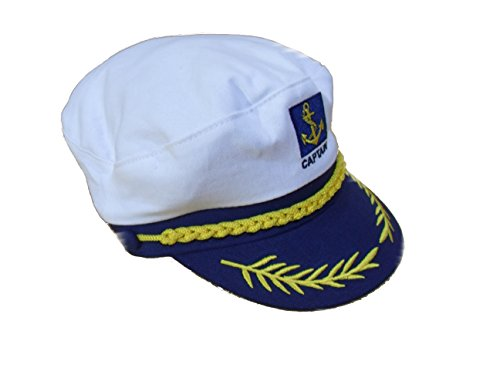 C63 ® – Casquette Bleu Marine de Capitaine Chapeau/capuchon marin nautique