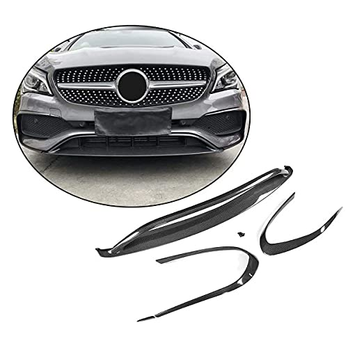 YMSHD Apto para Mercedes para Benz Cla Class Cla200 Cla250 Sport Sedan 4 Puertas 2016-2018 Fibra de Carbono CF alerón de Barbilla Frontal Labio Delantero, no Apto para amg y Parachoques Base