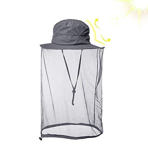 Moskito Kopfnetz Hut - Schnelltrocknender Sonnenhut mit Mückennetz für Männer und Frauen, Dschungel Gesichtsmaske Schutz vor Moskito Insekt Käfer Biene Mücken für Outdoor Angeln Wandern Gartenarbeit