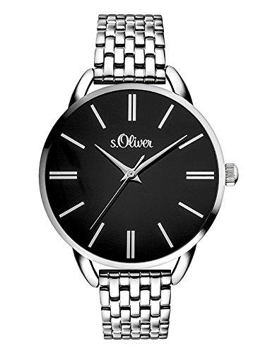 s.Oliver Damen Analog Quarz Smart Watch Armbanduhr mit Edelstahl Armband SO-3554-MQ