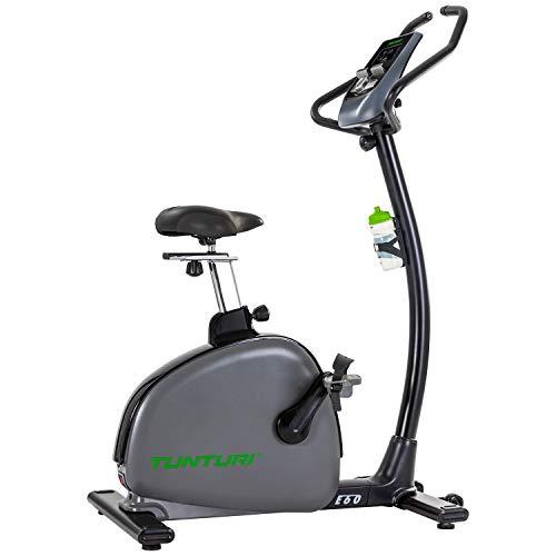 Tunturi Hometrainer E60 Performance, Trainingsrad mit App, Fahrrad für Zuhause, 32 Widerstandsstufen, 21 Programme, Bluetooth