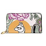 Egyptian Cat Bastet Vector Image Leather Zipper Clutch Bag Wallet Large Capacity Long Purse For Women Customized