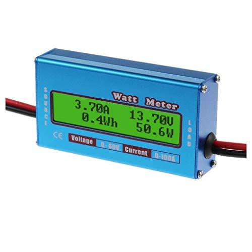 ELENXS 100A LCD-Digital-Dynamometer Watt Meter hohe Präzision Modell Power Meter 60V Solar Power Analyzer