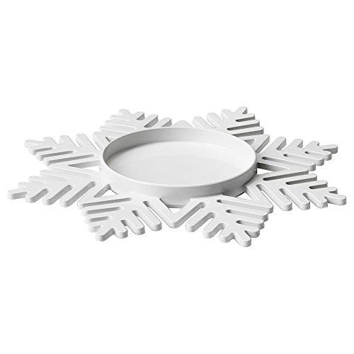 Ikea Vinter 2017 Kaarsen-/decoratieve schaal 17 cm wit