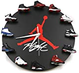 3D Wall Clocks,Neuheit Design 3D Sneakers Wanduhr,Wanduhr mit 3D Mini Sneakers - Perfekt für Küche und Wohnzimmer (B)