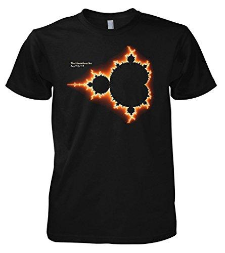 Geek Mandelbrot Set Initial Fractal Image Science - Physics - Nerd inspired 701093 Herren T-Shirt 001 L