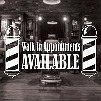 理髪店の看板ウォールステッカー理髪店のウォールステッカー理髪店のロゴウィンドウステッカーヘアサロンウォールステッカー74X42cm