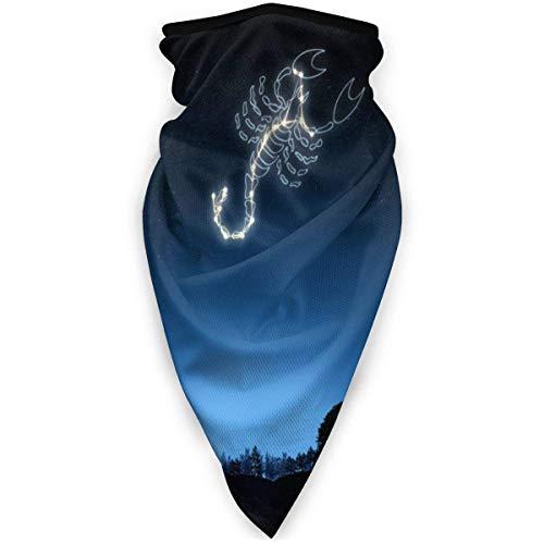NA halsmanchet ademend gezichtsmasker Scorpio Constellation Neck Warme sjaal voor anti-stof markeringen in de buitenlucht