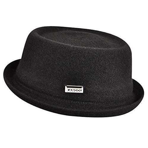 Kangol Wool Mowbray Sombrero Pork Pie, Negro, S Unisex Adulto