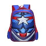 Captain America Backpack Kid'S School Backpacks Boys Girls Cartoon Bookbag ( One Size/Large Capacity )