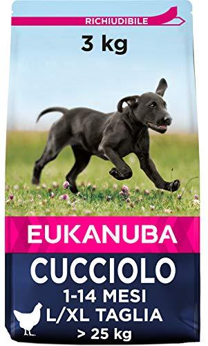 Eukanuba Cibo Cecco per Cuccioli in Crescita, per Cani di Taglia Grande, Ricco di Pollo Fresco, 3 kg