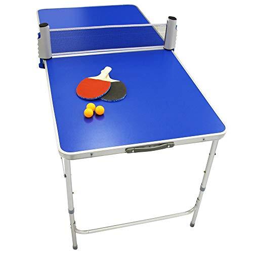 WEIMALL 卓球台 卓球セット 家庭用 折りたたみ ピンポン台 ポータブル セット ネット ラケット ピンポン球 ファミリー