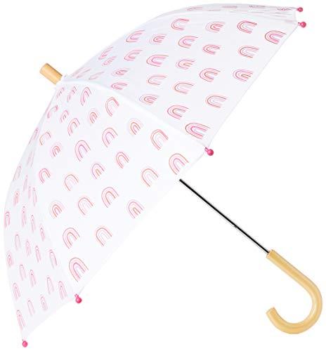Hatley Mädchen Printed Umbrellas Regenschirm, Regenbogen-Party, One Size