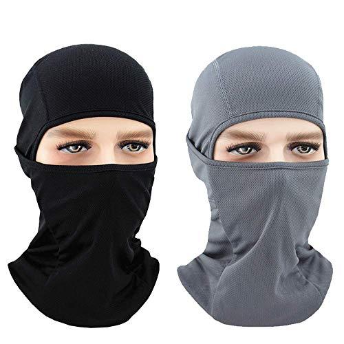 CHUER Sturmhaube Balaclava Sturmmaske, Motorrad Maske Skimaske - idealer Kopfschutz, Nackenschutz, Gesichtsschutz für Ski und Wintersport - 2 Pack