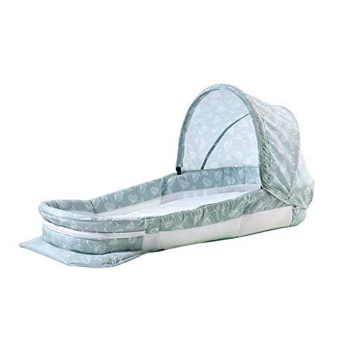 Lits de voyage Lit Bionic lit portatif dans Le lit lit de Couchage Nouveau-né Multifonctionnel lit Pliant Pliant lit de Tente Portable Mobilier bébé (Color : Green, Size : 100 * 40 * 16cm)