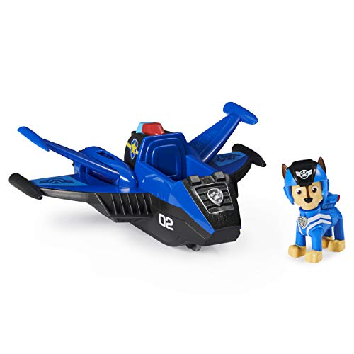 Paw Patrol, Jet to The Rescue Chase's Deluxe Transforming Vehicle with Lights and Sounds, Amazon Exclusive