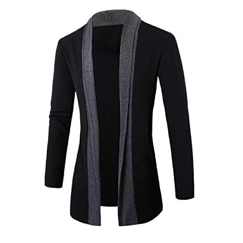 OKJI 2020 Mode Heren Vesten Stijlvolle Mode Jas Slanke Lange Mouw Katoen Jas Casual Herenvest Tops