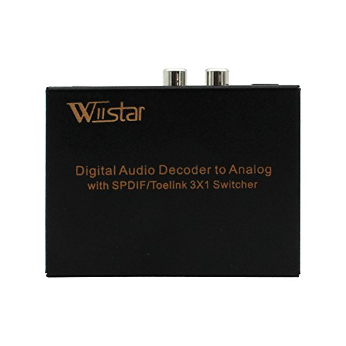 Wiistar Toslink Switch 3x1 Digital Optical Audio Switch 3x1 with Analog RCA and 3.5mm Support 5.1CH 5.1CH/ LPCM2.0/ DTS