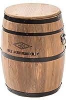 システムK 樽デザイン スツール 収納 椅子 チェア 天然木 インテリア ウッド Lサイズ