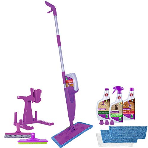 Rejuvenate Click and Clean Deluxe Bundle Best Spray Mop, Floor Cleaners and Accessories in One Kit
