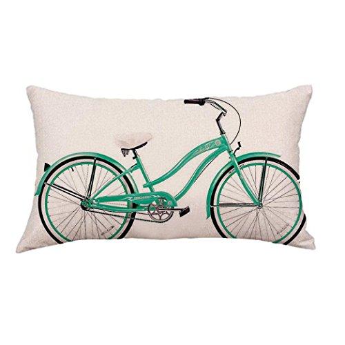 Fossrn Funda Cojin 30 x 50 Moderno Geometría Bicicleta Funda de almohada para Sofa Jardin Cama Decoracion (05)