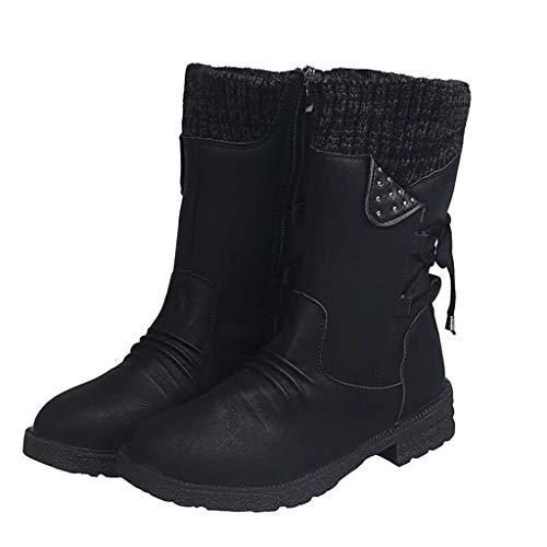 UMore Kniehohe Stiefel Damen Schnee Dauerhaft Draussen Thermal Winter Warm Wasserdicht Mittelhoher Stiefel Winterstiefel Fellstiefel