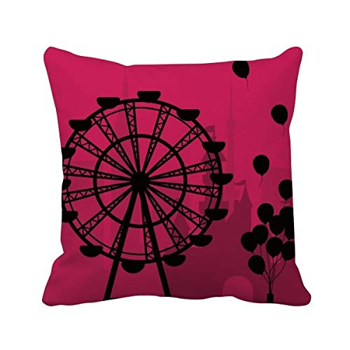 DIYthinker Ballon Ferris Wheel Amusement Park Vierkant Gooi Kussen invoegen Kussen Cover Thuis Sofa Decor Gift