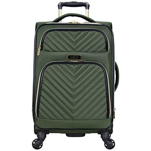 Kenneth Cole Reaction Women's Chelsea Collection 20' Chevron Quilted Softside Expandable 4-Wheel Spinner Carry-On Suitcase, Olive