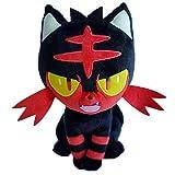 Wjfijz Anime Litten Pokemones muñecos de Peluche de Juguete Giftskawaii Cartoon Litten Cat Peluches de Peluche 30cm