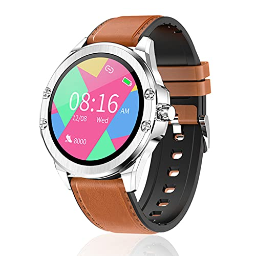 Smart Watch Men's Business HD Screen IP68 Impermeable Modelo Multi-Sports Modelo Smart Watch Long Standby para Android iOS,A