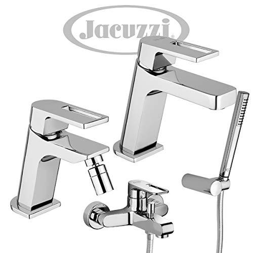 Yellowshop - Set Miscelatori lavabo, bidet, esterno vasca con doccia duplex Jacuzzi mod. Twilight Open