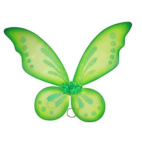 """Dushi Fairy Wings Dress Up Wings Butterfly Fairy Halloween Costume Angel Wings for Kids (22.""""4W x 18.5"""" L)…"""