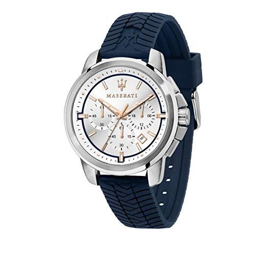 Maserati Reloj para Hombre, Colección Successo, en Acero Inoxidable, Silicona, con Correa de Silicona - R8871621013