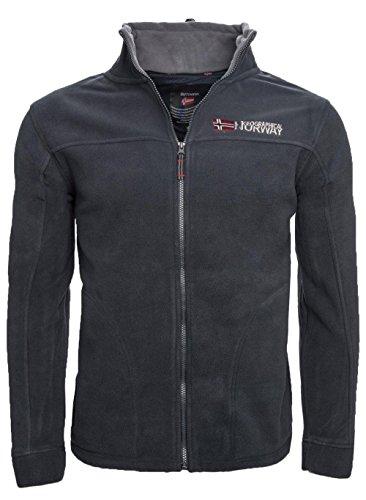 Geographical Norway Forro polar caliente para hombre, chaqueta de invierno, chaqueta de entretiempo, exteriores azul marino M
