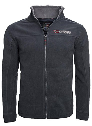 Geographical Norway warme Herren Fleece Winter Übergangs Jacke Outdoor Sweat [GeNo-8-Navy-Gr.L]